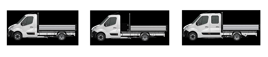 Vauxhall Movano crew chassis cabs